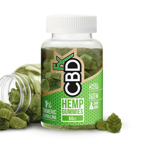 Cannabidiol (CBD) Gummy Bears with Turmeric & Spirulina – Antioxidant