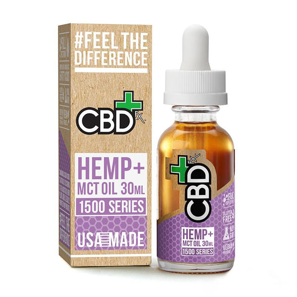 Organic Cannabidiol (CBD) Oil and MCT Oil Tincture 1500mg - Buy direct at wholesale price from the Factory Outlet CBDfx CBD Oil Tincture