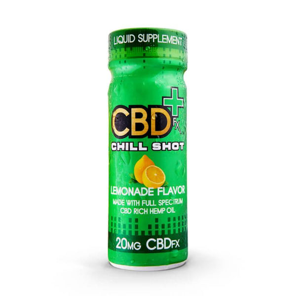 Organic CBD (cannabidiol) Beverage Lemonade Flavor Chill Shot 20mg - Buy direct at wholesale price from the Factory Outlet CBDfx Chill Shot