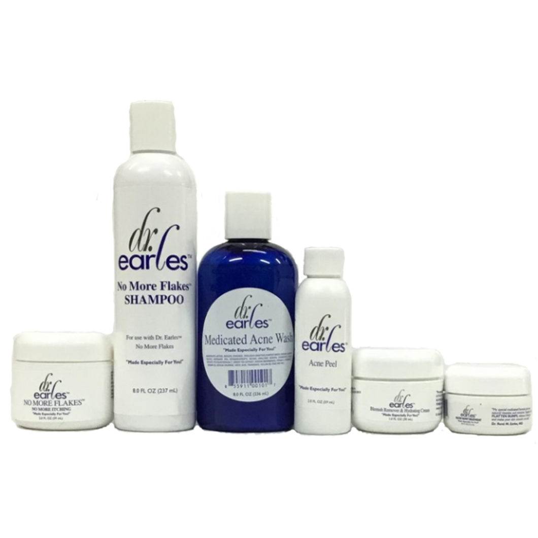 Dr. Earles Scalp, Hair, and Skin Care System with Razor Bump Treatment