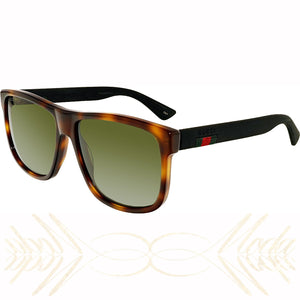 e2b5dcf08fa Gucci GG0010S-006-58 Brown Square Sunglasses Unisex