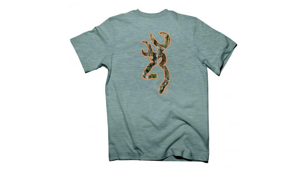 Browning Buckmark Tee Grey L - SKU: A000234300104 - Size: Large, 50-100, Amazon, Apparel, browning, ebay, size-large, t-shirts