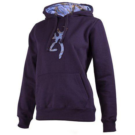 Browning Buckmark Camo Hoodie Nightshade - Large - SKU: BBCHNL - Size: Large, 50-100, Amazon, Apparel, browning, ebay, size-large, sweaters