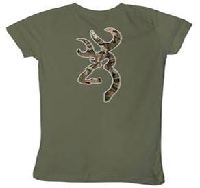 Browning Buckmark Camo Tee Olive L - SKU: BBCTOL - Size: Large, Amazon, Apparel, browning, ebay, size-large, t-shirts, under-50