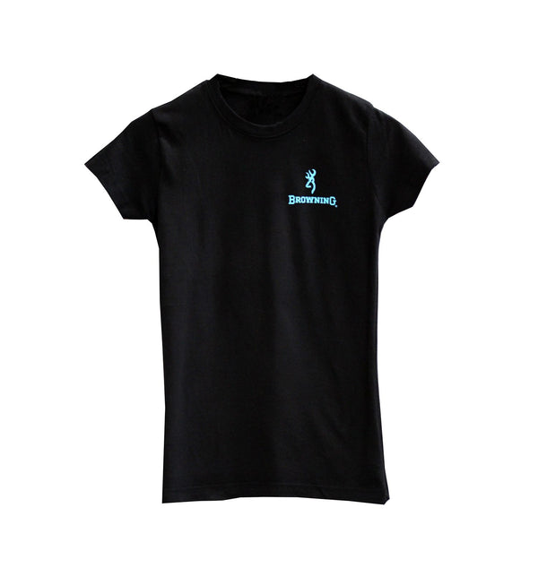 Browning Womens Buckmark Tee Black - Large - SKU: BRC4006.099.L - Size: Large, Amazon, Apparel, browning, ebay, size-large, t-shirts, under-50