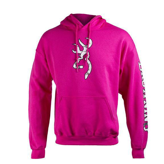 Browning Two Hit Hoodie Fuchsia - Large - SKU: BTHHFL - Size: Large, 50-100, Amazon, Apparel, browning, ebay, size-large, sweaters