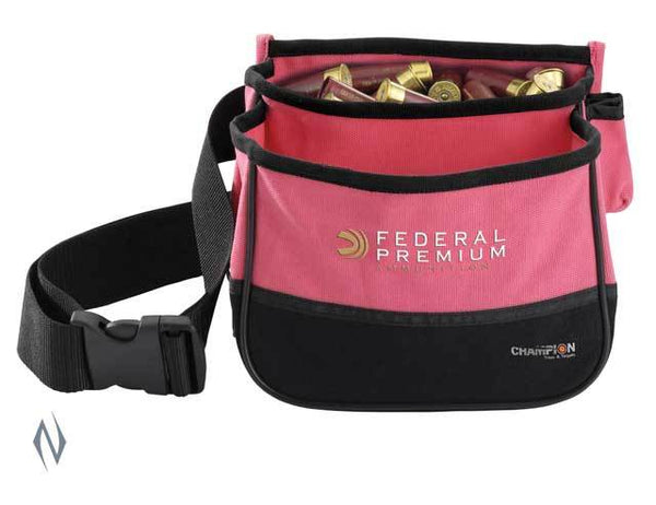 CHAMPION SHOTSHELL POUCH PINK HOLDS 50 - SKU: CH45853, 50-100, ammo-magazine-pouches, champion, ebay, Shooting-Gear
