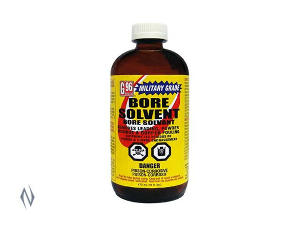 G96 BORE SOLVENT MILITARY 16OZ - SKU: G96-1107, 50-100, cleaners-degreasers, ebay, g96, Gun-Cleaning, Shooting-Gear