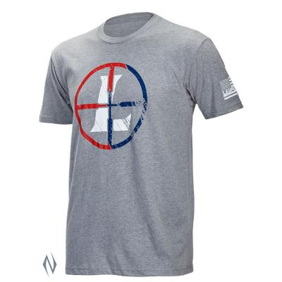 LEUPOLD SS USA RETICLE T-SHIRT GREY HEATHER 3XL - SKU: LE172573 - Size: 3XL, Amazon, Apparel, ebay, leupold, size-3xl, t-shirts, under-50
