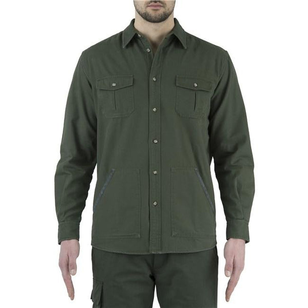Flannel Overshirt Green&Beige 3XL - SKU: LUA5-7566-0716/3XL - Size: 3XL, 100-200, Amazon, Apparel, beretta, ebay, shirts, size-3xl