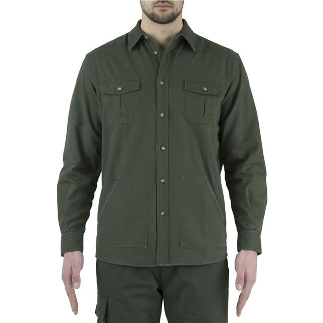 BERETTA FLANNEL OVERSHIRT GREEN & BEIGE XL - SKU: LUA5-7566-0716/XL - Size: XL, 100-200, Amazon, Apparel, beretta, ebay, shirts, size-xl