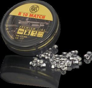 RWS - PELLETS R10 MATCH HV .177 0.53G (HEAD 4.48) - SKU: RWS2137356, air-gun-pellets, Ammunition, rws, under-50