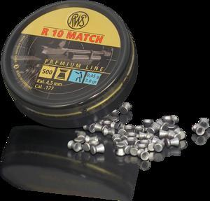 RWS - PELLETS R10 MATCH HV .177 0.45H (HEAD4.48) - SKU: RWS2315440, air-gun-pellets, Ammunition, rws, under-50