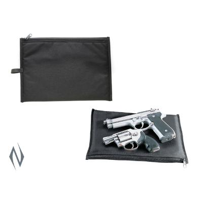 UNCLE MIKES PISTOL POUCH BLACK SMALL 12 inch - SKU: UM52418, ebay, Gun-Bags-Cases, handgun-bags-cases, Shooting-Gear, uncle-mikes, under-50