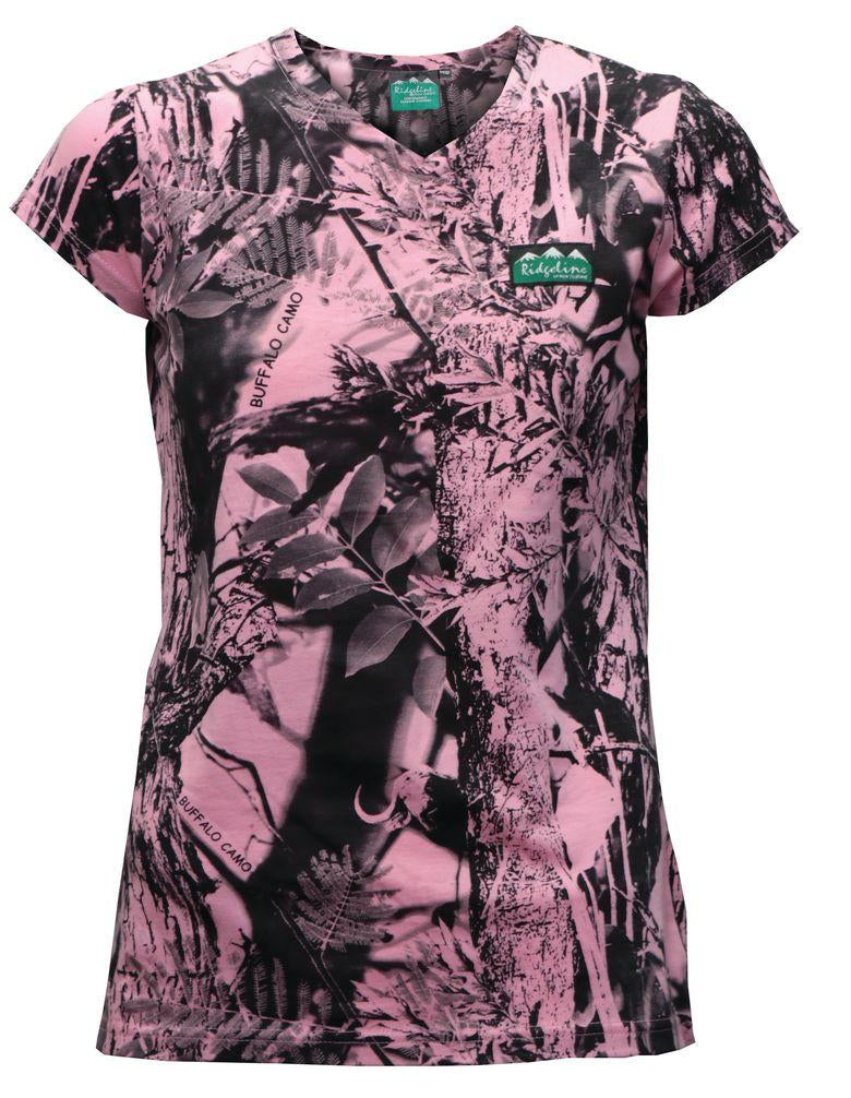 RIDGELINE - LADIES SPRING BUCK V NECK TEE - SKU: RLLTSSVPX0 - Size: XS, Amazon, Apparel, ebay, ridgeline, size-xs, t-shirts, under-50