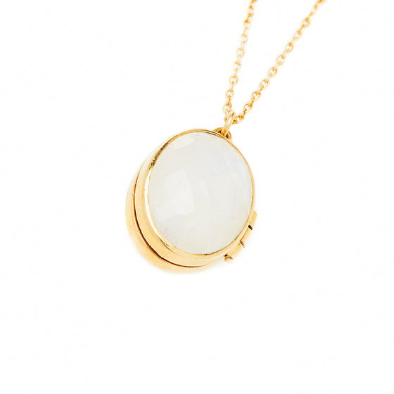 18k Gold Vermeil Moonstone Locket
