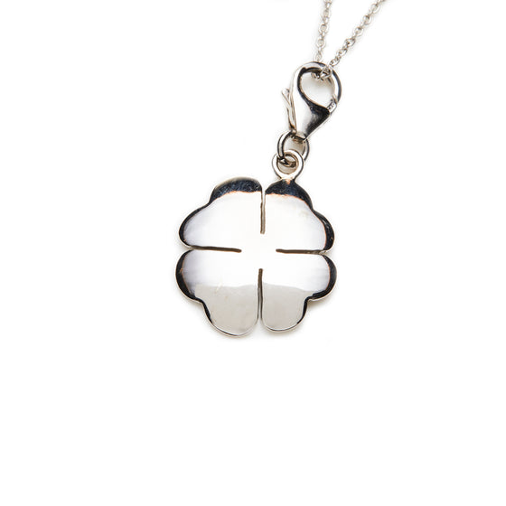 Silver Clover Charm Necklace- Mini Me