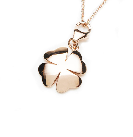 Rose Gold Clover Necklace- Mini Me