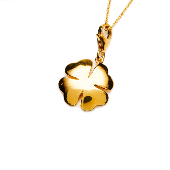 Gold Clover Necklace- Mini Me