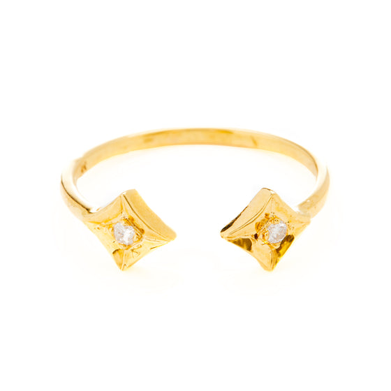 18k Gold Diamond Brilliant Cut- Ring A