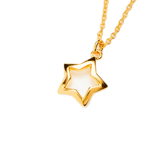 18k Gold Fill Star Necklace- Mini Me