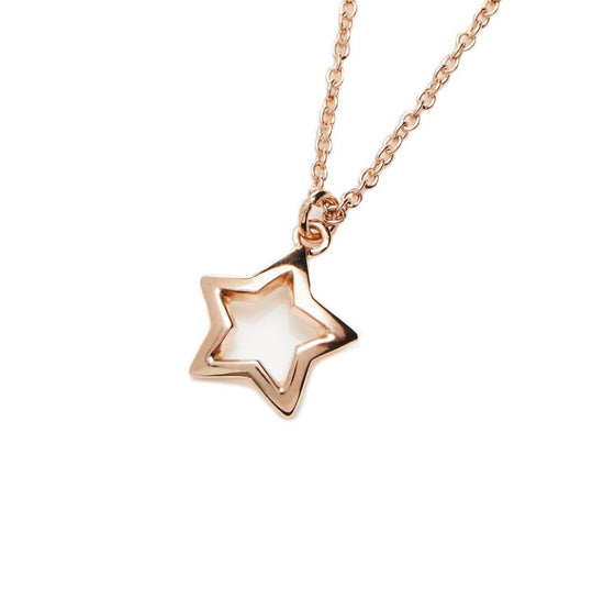 18k Rose Gold Fill Star Necklace- Mini Me
