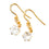 Gold Sapphire Crystal Drop Earrings