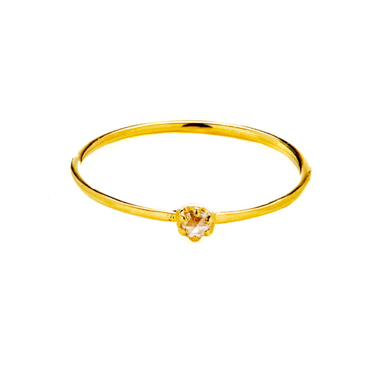 18k Gold Diamond Cut Ring