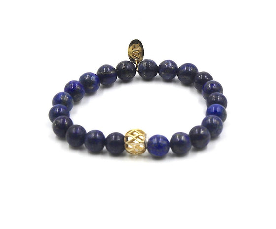Blue Lapis Lazuli with Gold Spacer