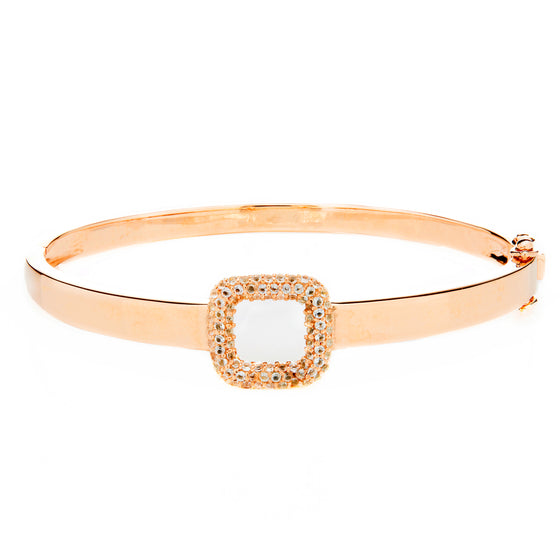 Rose Gold Buckle Bangle