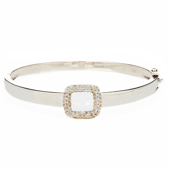 Sterling Silver Buckle Bangle