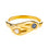 Gold Double Head Snake Ring