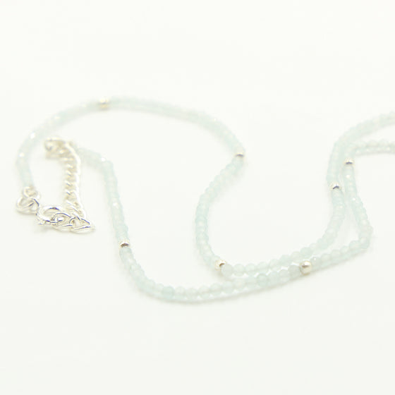 Semi Precious Beaded Necklace, White