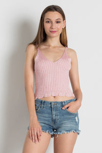 E8093 - SWEATER STRAP TOP
