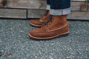 7 Eyelet Field Boot-HH Bomber Brown Roughout-Vibram 2060 Brown