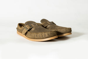 Lazy Moccasin-Roughtout Waxed Coyote Sumner- Gum Camp Sole