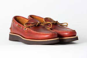 Camp Moccasin (Rugged)-Horween Red Dog Cavalier-Vibram 2021 Brown