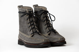 7 Eyelet Field Boot-Gun Metal WP Roughout-Vibram 2060 Black