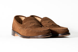 Classic Maine Loafer-Chocolate Horween Suede-Leather Outsole & Combo Heel