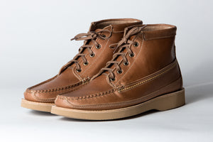 Scout Boot (Updated Version)-Natural Horween Cavalier-Vibram 2060 Sahara