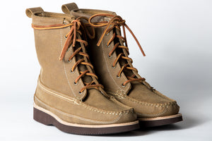 7 Eyelet Field Boot-Khaki Roughout WP-Vibram 2060 Brown