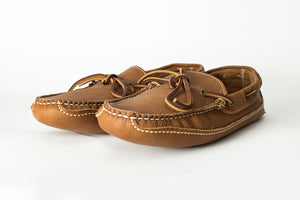 Slipper Moccasin-Carmel Buffalo-True Double Vamp Sole