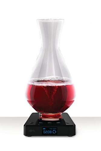 vSpin / Spiegelau Active Wine Decanter - Hand Assembled 100% Lead-free German Crystal – Electric Wine Aerator set – Original Patented Decanting Carafe – Elegant Wine Gift Luxury Wine accessories
