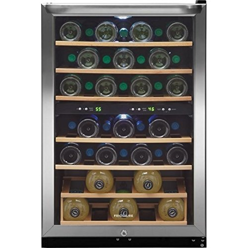 Frigidaire Two-Zone Wine Cooler with 38 Bottle Capacity