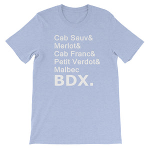 Bordeaux Varietals T-shirt (More Colors Available)
