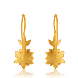 Lotus Lily Drop Earrings