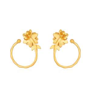 Lotus Lily Small Hoops