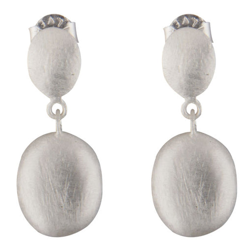 Moon Shadow Earrings (Silver)