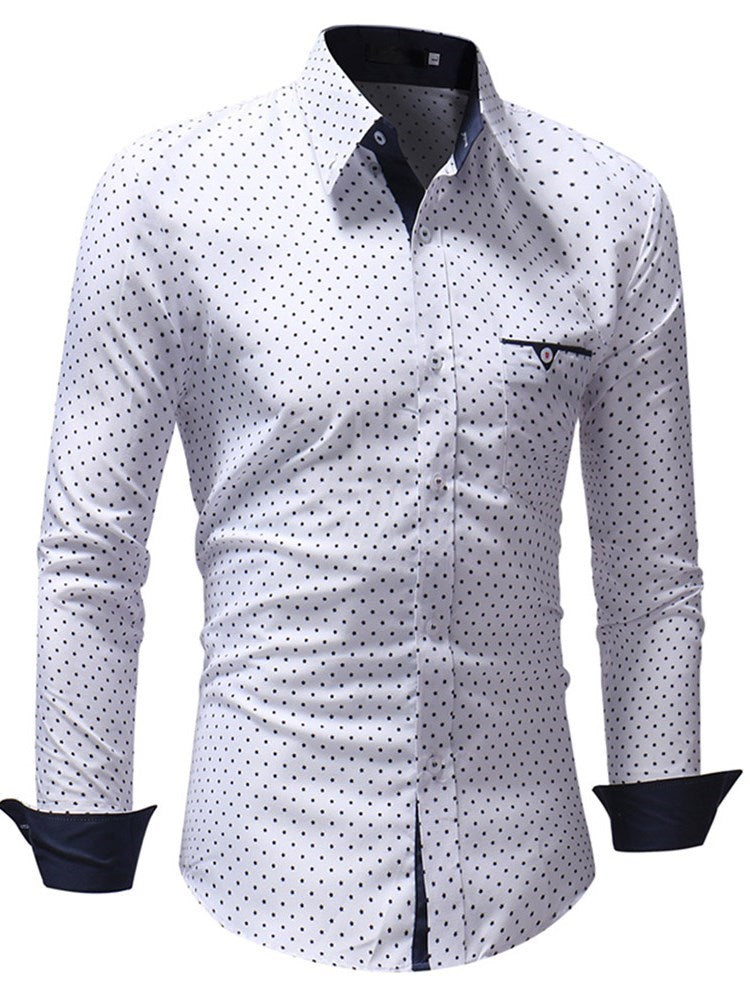 Casual Patchwork Lapel Fall Single-Breasted Shirt