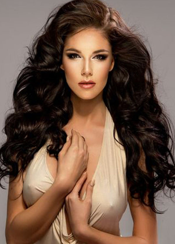 Capless Women Wavy Human Hair 120% Wigs